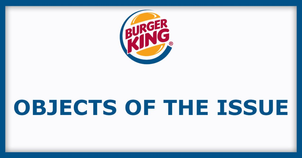 Burger King IPO Object Of The Issue