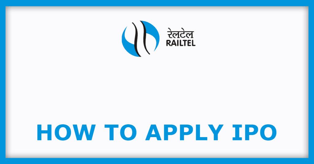 Railtel IPO How To Apply For Railtel IPO