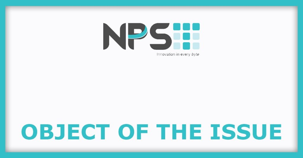 NPST IPO Object Of The issue