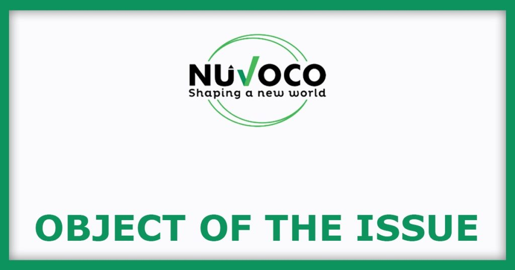 Nuvoco Vistas IPO Object Of The Issue