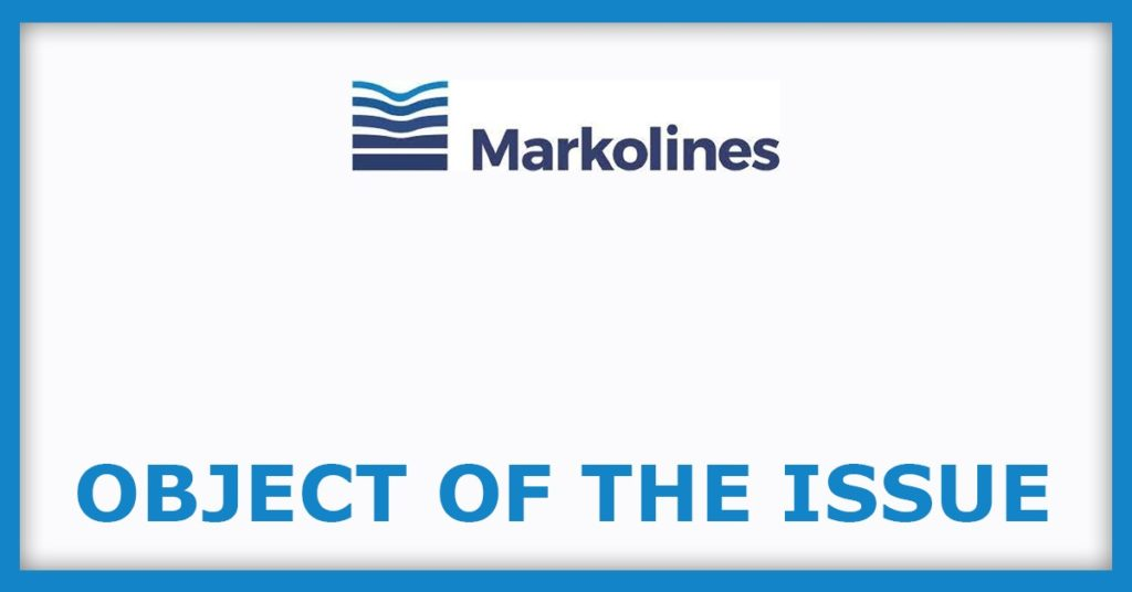 Markolines Traffic Controls IPO Object Of The Issue